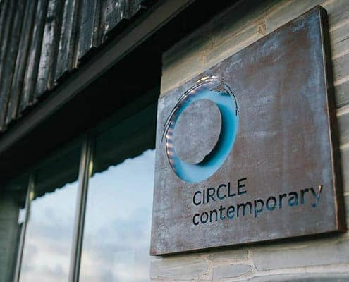 Gallery Circle Contemporary sign. Made by Thrussells
