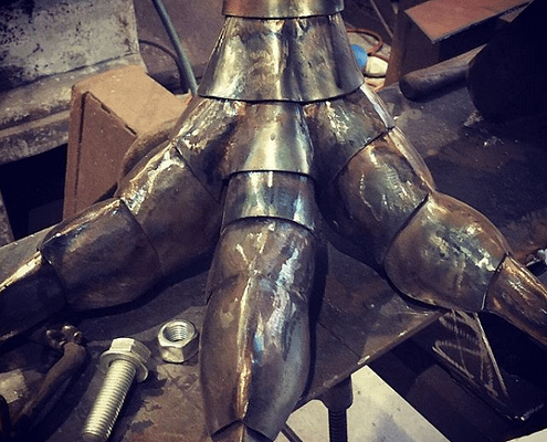 steel bird feet look like dinosaur feet | Made by Thrussells